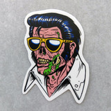 Zombie Elvis Sticker Army of the Dead