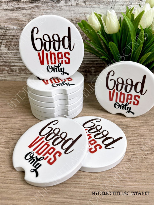 Good Vibes only car coaster