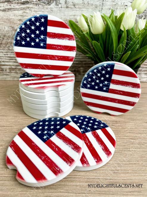USA Flag car coaster