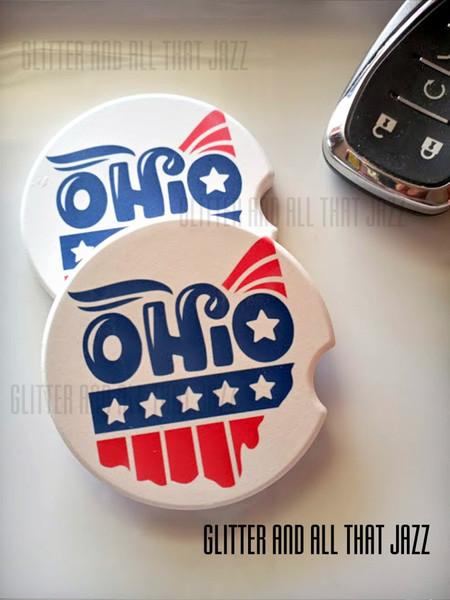 Ohio Car coaster