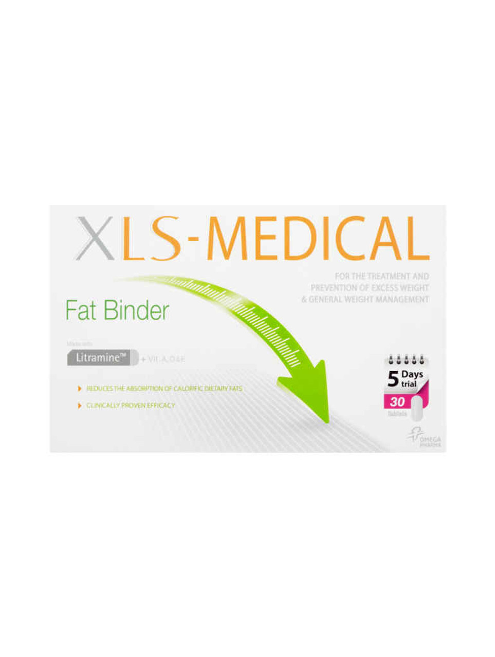 Xls Medical Fat Binder Tablets 30