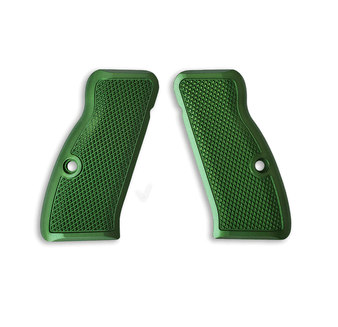 he Cornerstone grips are just that: our Cornerstone. They feature a traditional checkering pattern that provides excellent traction in whatever environment you may find yourself in. The Cornerstone grips are equally at home on your competition gun, bed stand gun, and are also comfortable enough to use on your EDC without rubbing your skin raw.