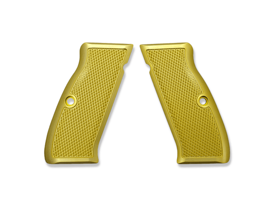 The Cornerstone grips are just that: our Cornerstone. They feature a traditional checkering pattern that provides excellent traction in whatever environment you may find yourself in. The Cornerstone grips are equally at home on your competition gun, bed stand gun, and are also comfortable enough to use on your EDC without rubbing your skin raw.