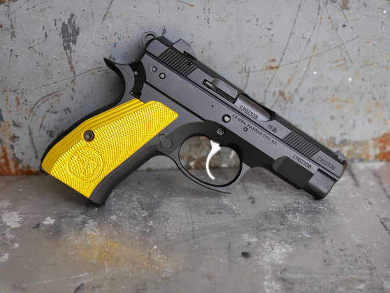 Yellow Anodizing Service for Customer Supplied Grips