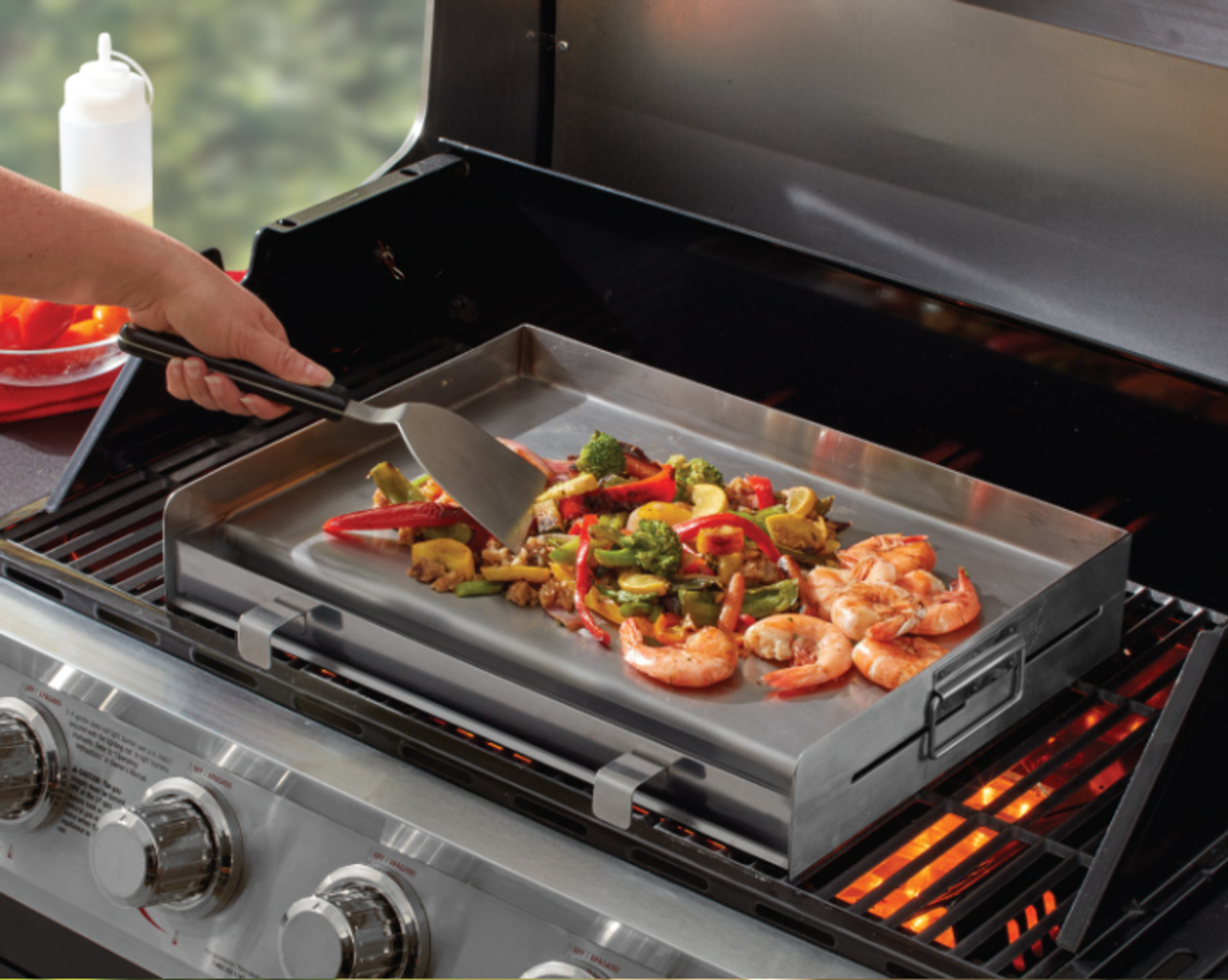 Stainless Steel Griddle With Removable Grease Tray Goodwood Hardware