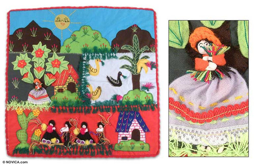 Applique wall hanging 'Harvest Festival'
