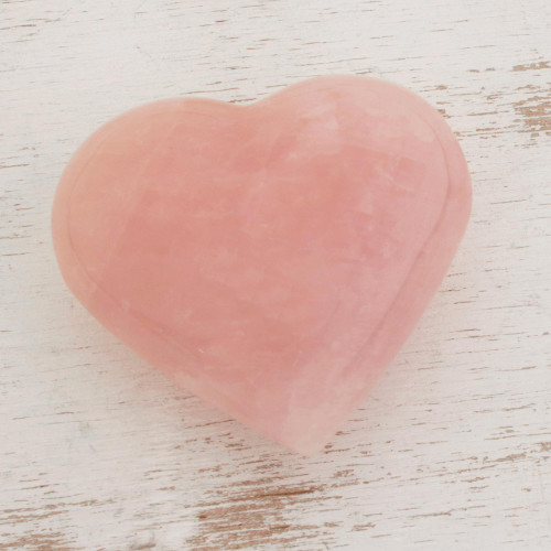 Handcrafted Heart Shaped Sculpture from Brazil 'Girl's Heart'