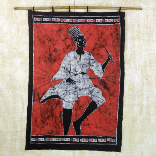 Batik wall hanging 'Northern Dancer'