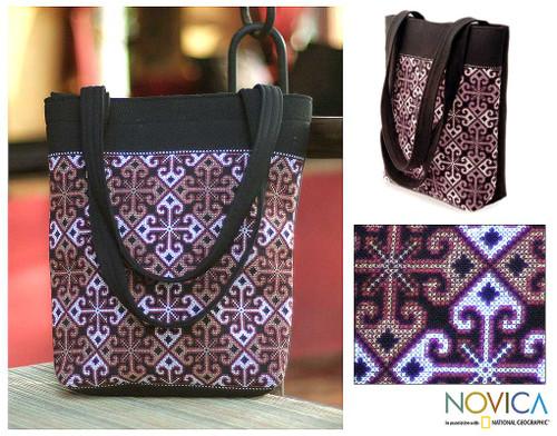 Cotton handbag 'Hypnotic Poppy'
