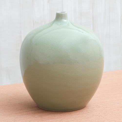 Celadon ceramic vase 'Jade Balloon'