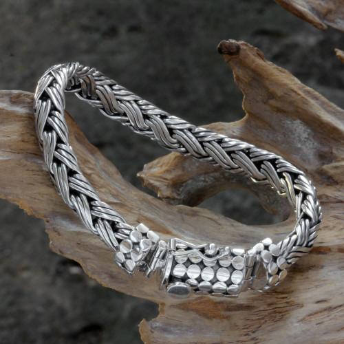 Sterling Silver Chain Bracelet 'Friendship'