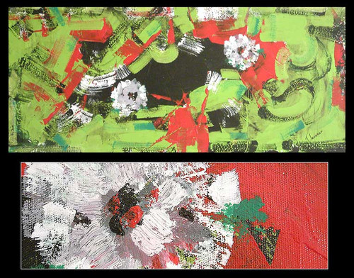 Abstract Floral Painting from Brazil 'Abstracting with Flowers'