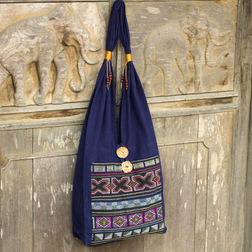 Cotton handbag 'Akha Life'