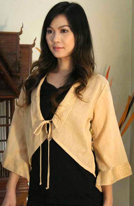 Handmade Cotton Blouse 'Thai Sands'