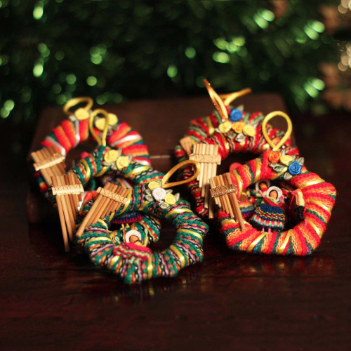 Ornaments Set of 6 'Musical Wreath'