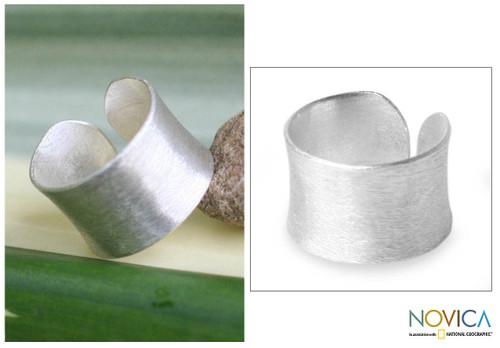 Modern Sterling Silver Band Ring 'Be Original'