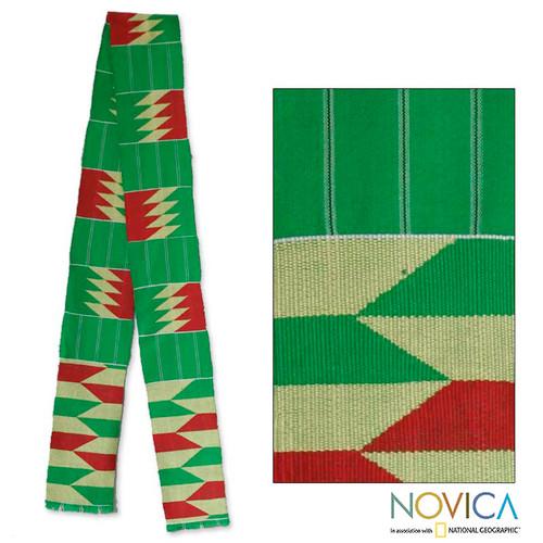 Cotton kente scarf 'Loom'