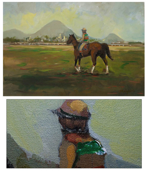 Landscape Impressionist Painting 'Sunset in the Paddock'