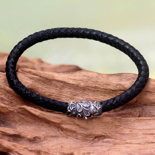 Men's Braided Leather Bracelet 'Aesthetics'