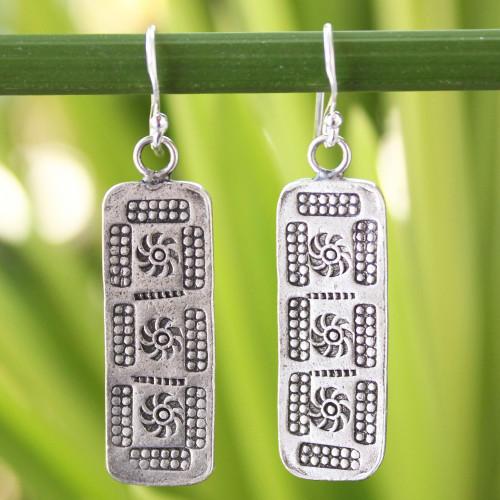 Sterling silver dangle earrings 'Chiang Mai Harmony'