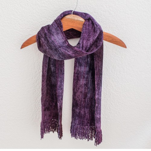 Cotton Blend scarf 'Orchid Dreamer'