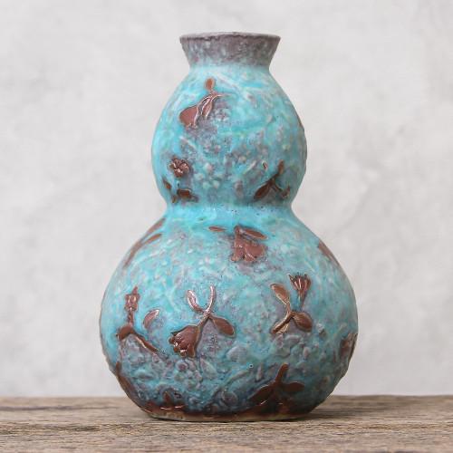 Celadon Ceramic Vase 'Orchid Glory'