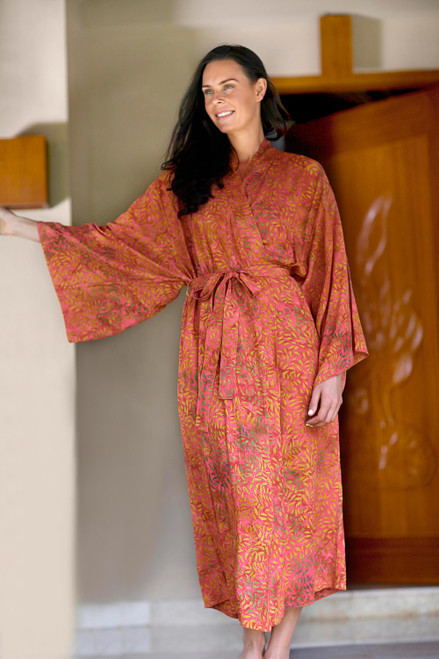 Batik robe 'Autumn Joy'
