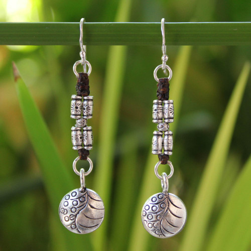 Hill Tribe Silver Dangle Earrings from Thailand 'Hill Tribe Stories'