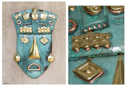 Inca Copper Bronze Mask 'Auqui Inca Prince'