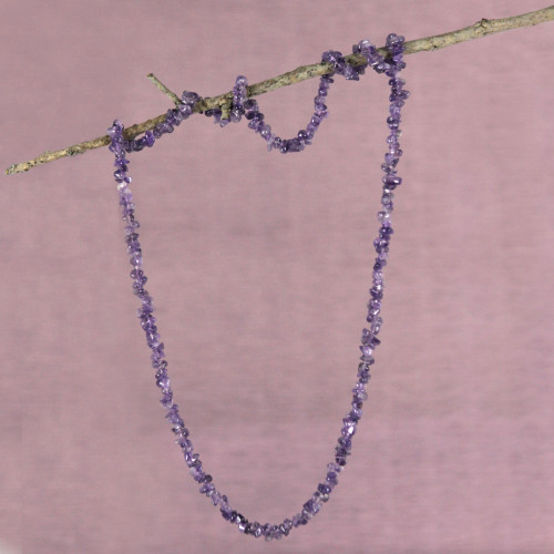 Artisan Crafted Amethyst Fair Trade Necklace 'Light of Wisdom'