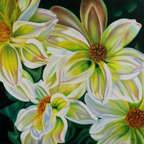 India Flower Painting 'Floral Season'