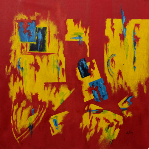 Abstract Brazilian Signed Painting 'Fantasy'