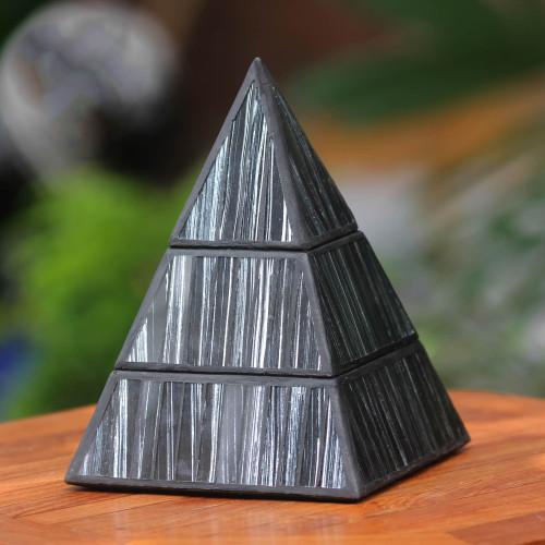 Black and Silver Pyramid Box 'Pyramid Treasure'