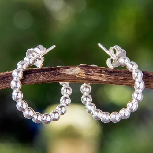 Taxco Half Hoop Earrings 'Moonglow'