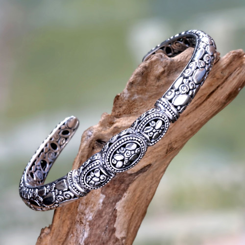 Sterling Silver Cuff Bracelet from Bali 'Tulamben Coral'
