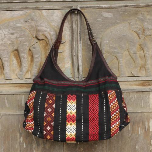 Handmade Thai Naga Tribe Style Shoulder Bag 'Naga Chic'