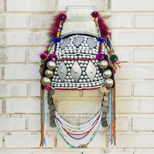 Decorative Beaded Head Dress Thai Akha Hill Tribe 'Timeless Muse I'