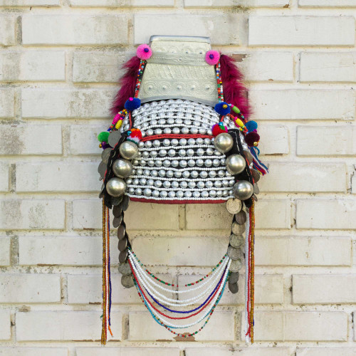 Traditional Hill Tribe Akha Headdress for Decorative Use 'Timeless Muse II'