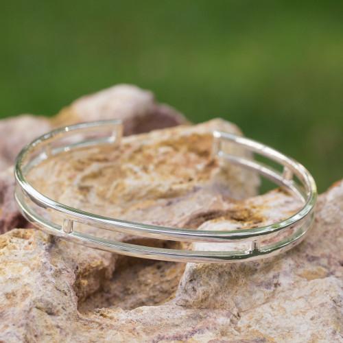 Sleek Polished Sterling Bracelet of Taxco Silver 'Contempo'