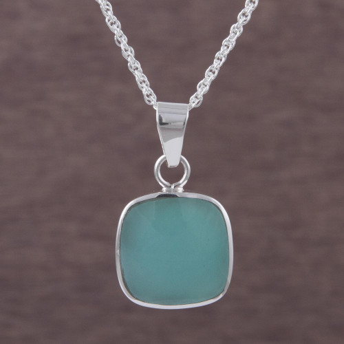 Handcrafted Andean Sterling Silver Necklace with Opal 'Window'
