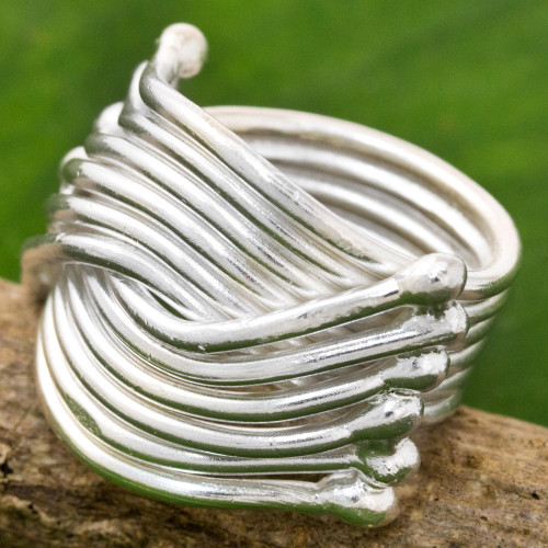 High Polish Karen Sterling Silver Ring Thailand 'Silver Hug'