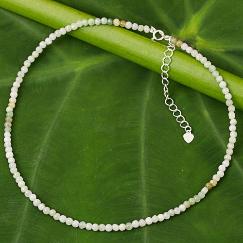Asian Jade Beaded Artisan Crafted Necklace from Thailand 'Attraction Continuum'