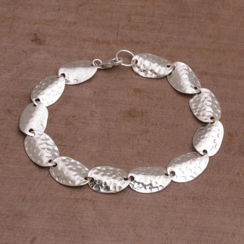 Sterling Silver Seashell Motif Link Bracelet from Bali 'Sanur Shells'