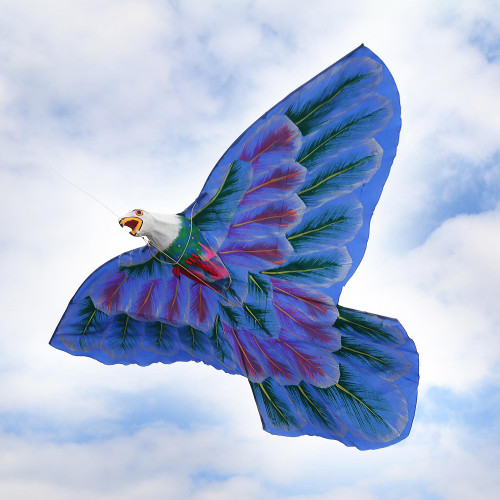Hand-Painted Nylon Bald Eagle Kite from Bali 'Bald Eagle'