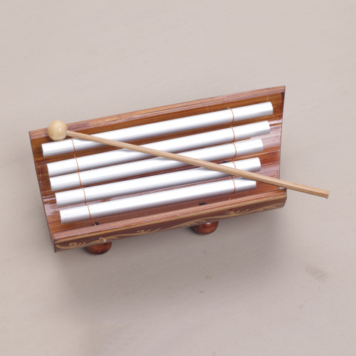 Hand Crafted Bamboo and Aluminum Xylophone from Bali 'Twinkling Glory'