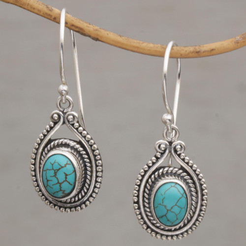 Handmade 925 Sterling Silver Earrings Indonesia 'Daydreaming'