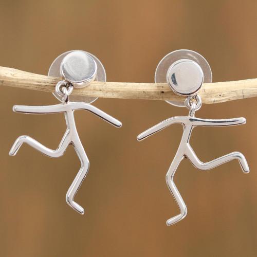 Taxco Sterling Silver Dangle Earrings from Mexico 'Taxco Joy'