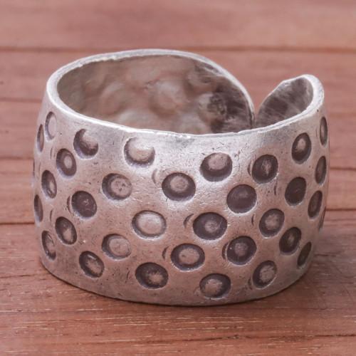 Dot Motif Karen Silver Wrap Ring from Thailand 'Karen Dots'