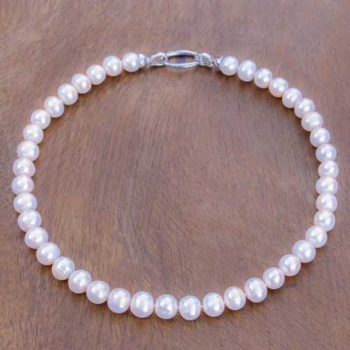 Cultured Pearl Beaded Necklace from Thailand 'Fantastic Glow'