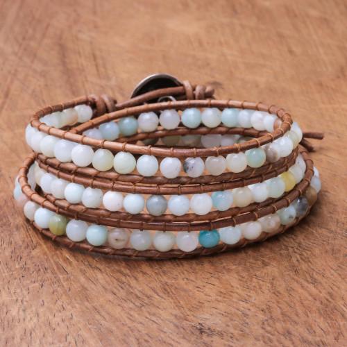 Colorful Quartz Beaded Wrap Bracelet from Thailand 'Colorful Delight'